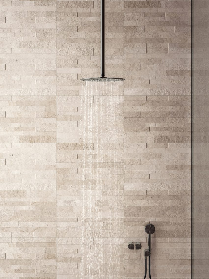 Blended porcelain tiles in Natural by Ceramiche Refin