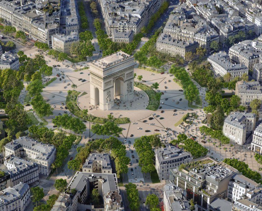 A visual of the Arc de Triomphe overhaul by PCA-Stream