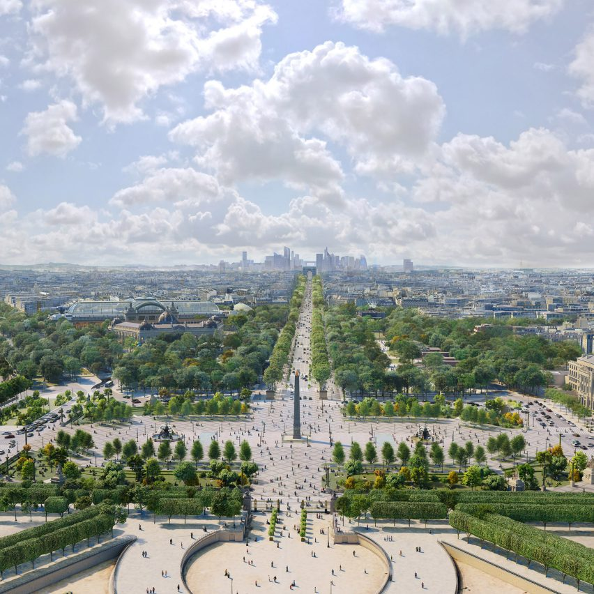 A visual of the Place de la Concorde overhaul by PCA-Stream