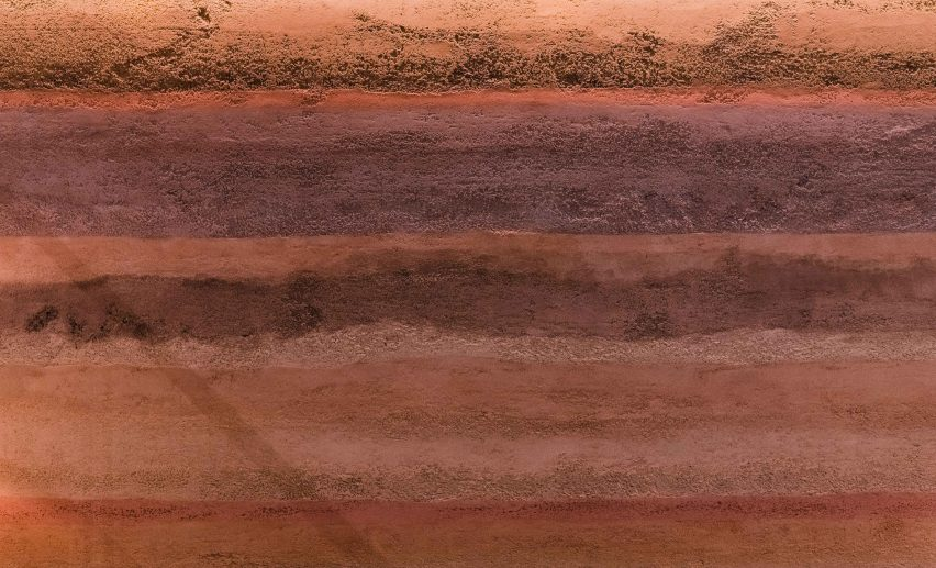 Clayworks Rammed Earth clay plaster finish
