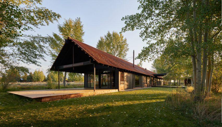 Exterior of Logan Pavilion in Wyoming