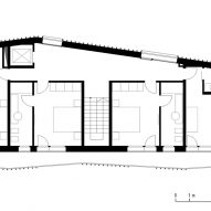 First floor plan for the Climber's Refuge by LCA Architetti