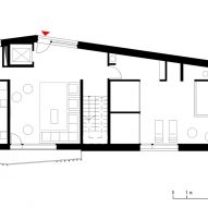 Ground floor plan for the Climber's Refuge by LCA Architetti