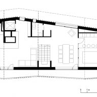 Second floor plan for the Climber's Refuge by LCA Architetti