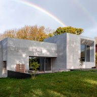 The rear facade of Concrete House by RAW Architecture Workshop in East Sussex