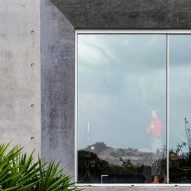 A window of Concrete House by RAW Architecture Workshop in East Sussex