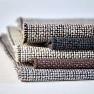 Neutral shades of the Camira Flax fabric by Camira