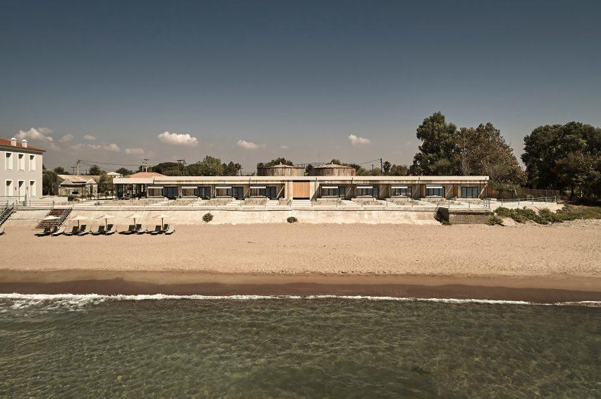 Concrete hotel in Greece