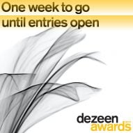 One week to go until entries for Dezeen Awards 2021 open