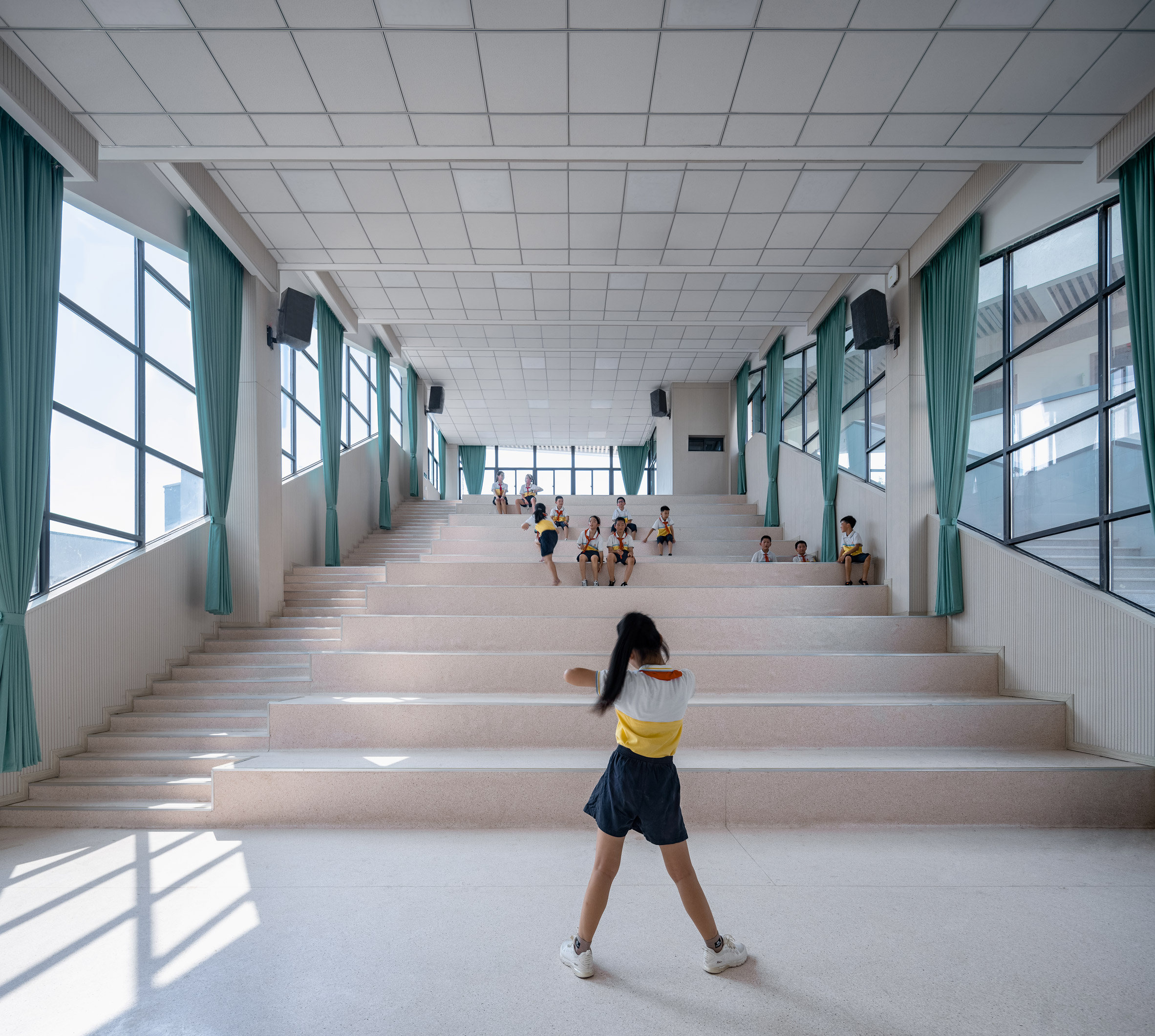 Indoor hall for children in Erdu Primary School
