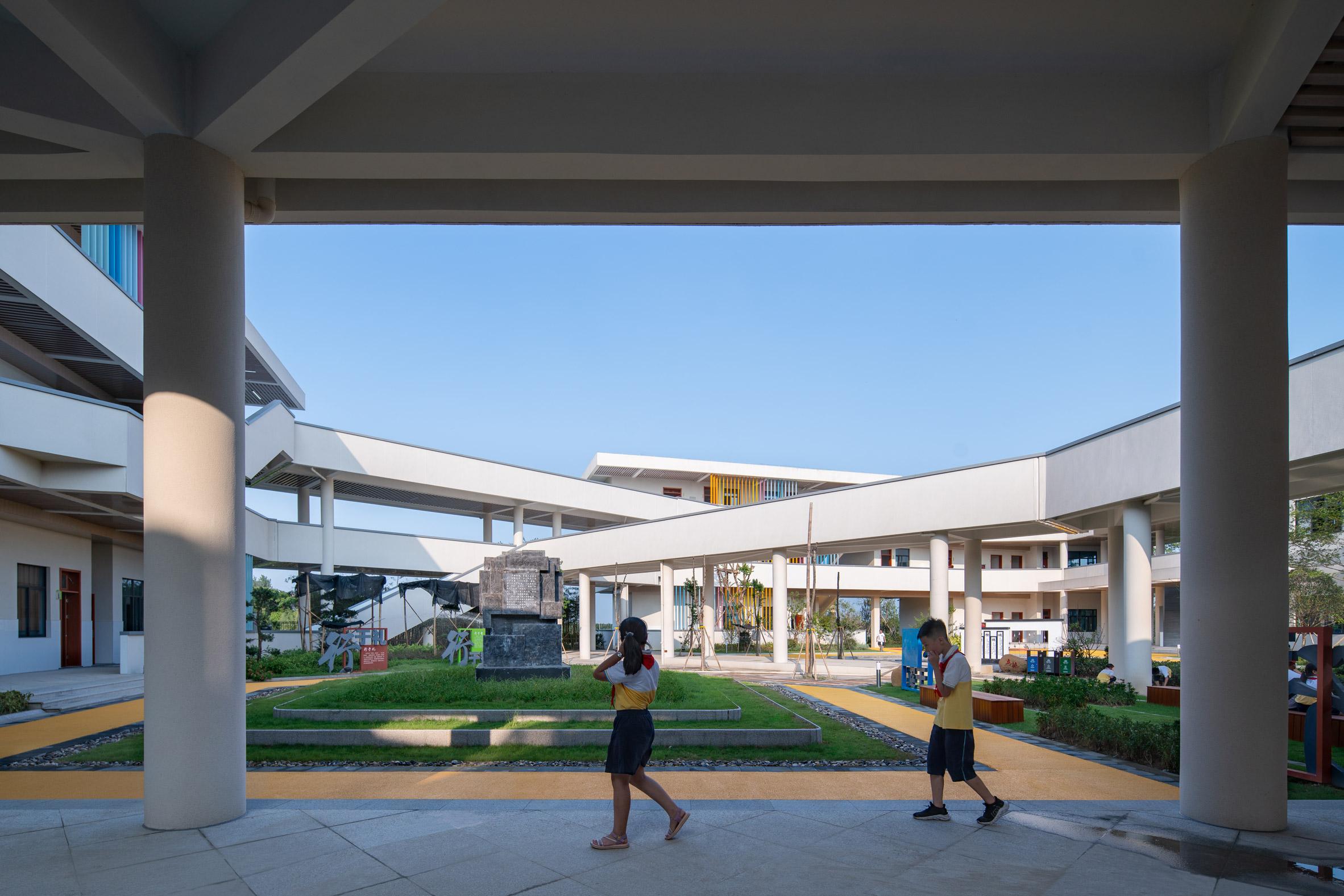 Ground floor walkways in Chinese primary school