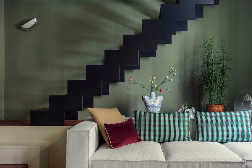Living room in Esperinos guesthouse in Greece