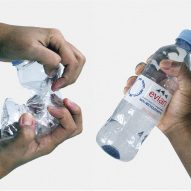 Virgil Abloh designs recycled plastic water bottle as emblem of Evian's circular ambitions