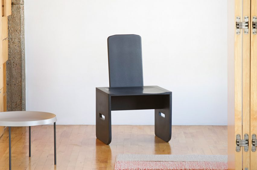 Front view of Evolve Chair by Tom Robinson