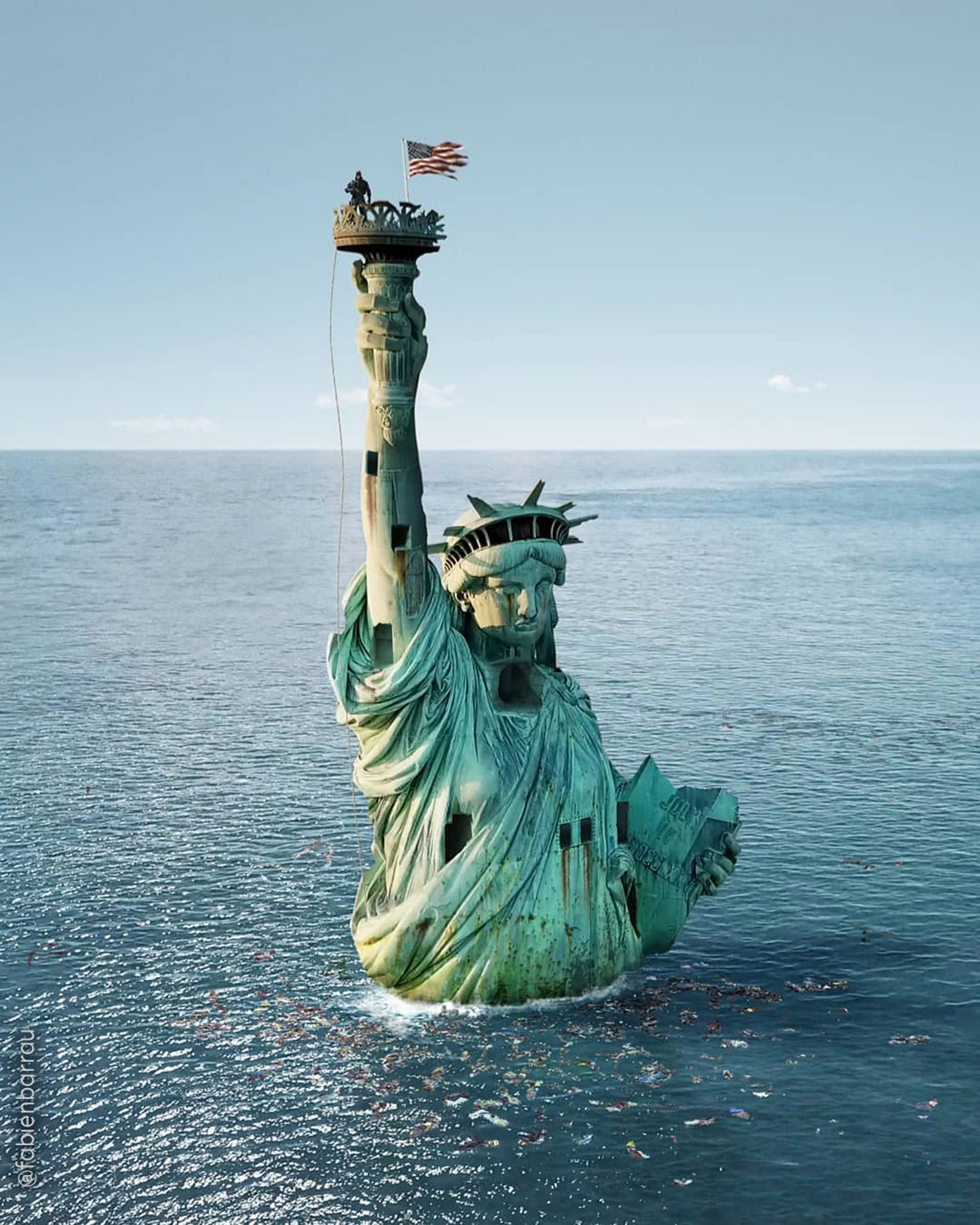 Lady Liberty from News from the Future by Fabien Barrau
