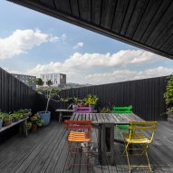 The roof terrace of the floating house by i29