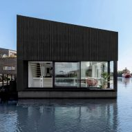 i29 completes angular floating house as part of sustainable Amsterdam community