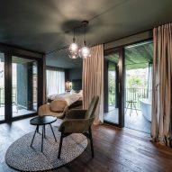A suite inside the Floris hotel extension by NOA