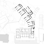 First floor plan for the Floris hotel extension by NOA