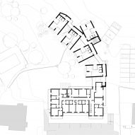 Second floor plan for the Floris hotel extension by NOA