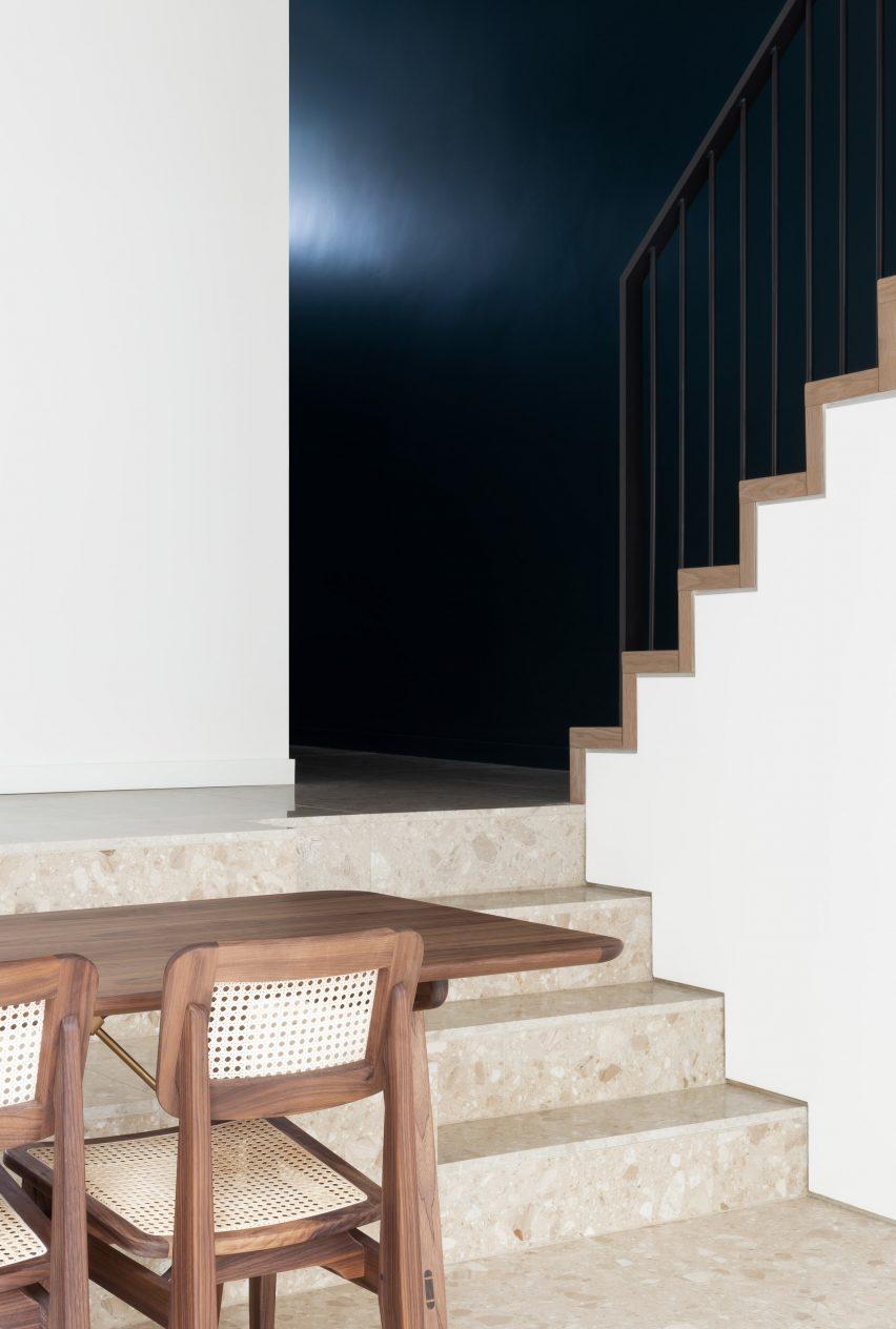 Terrazzo floor in Frame House by Bureau de Change