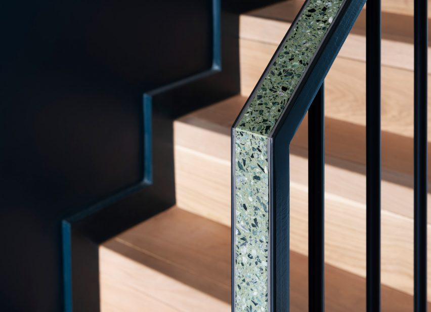 Terrazzo balustrade at Frame House by Bureau de Change