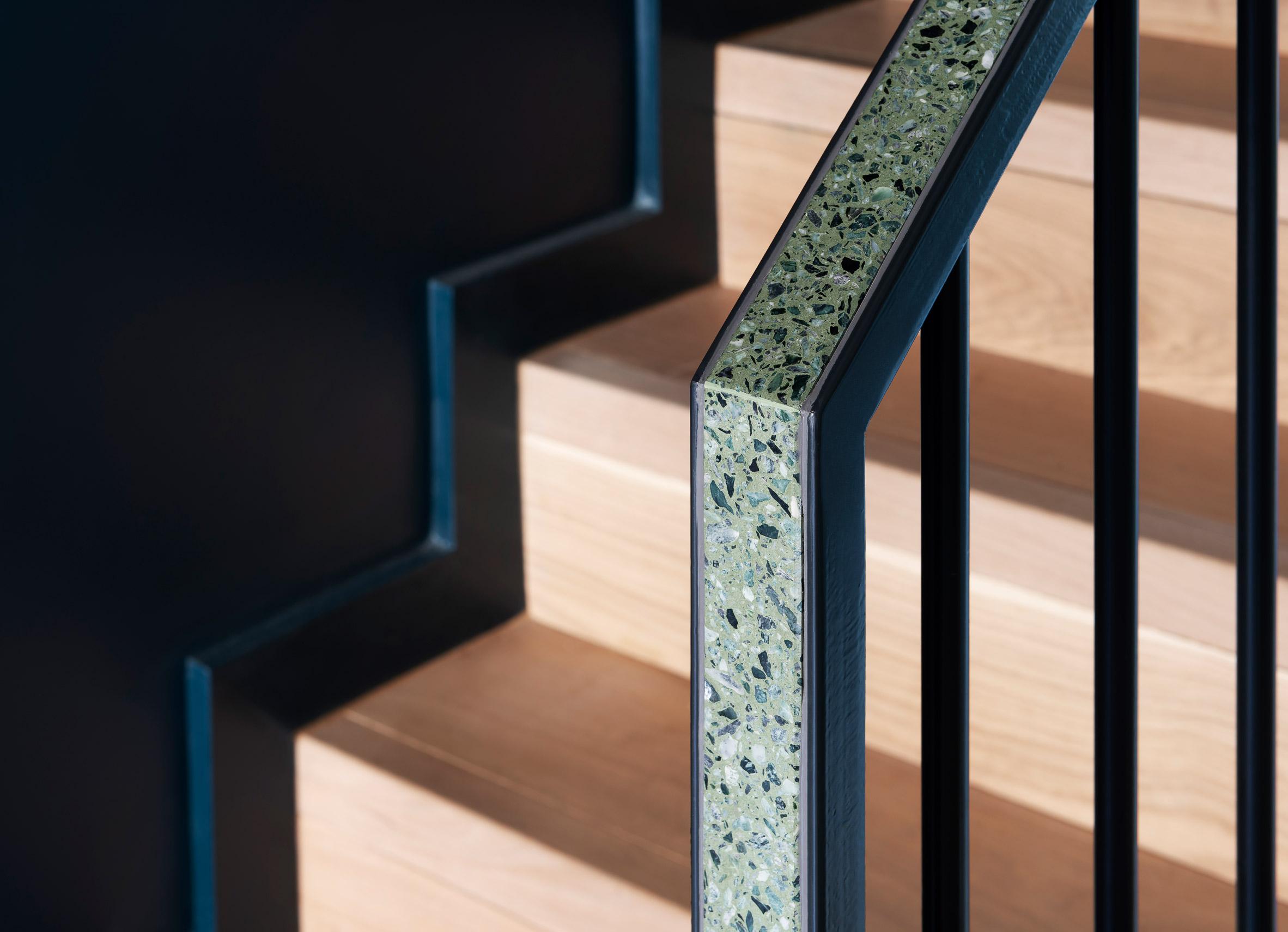 Terrazzo balustrade at Frame House by Bureau de Change