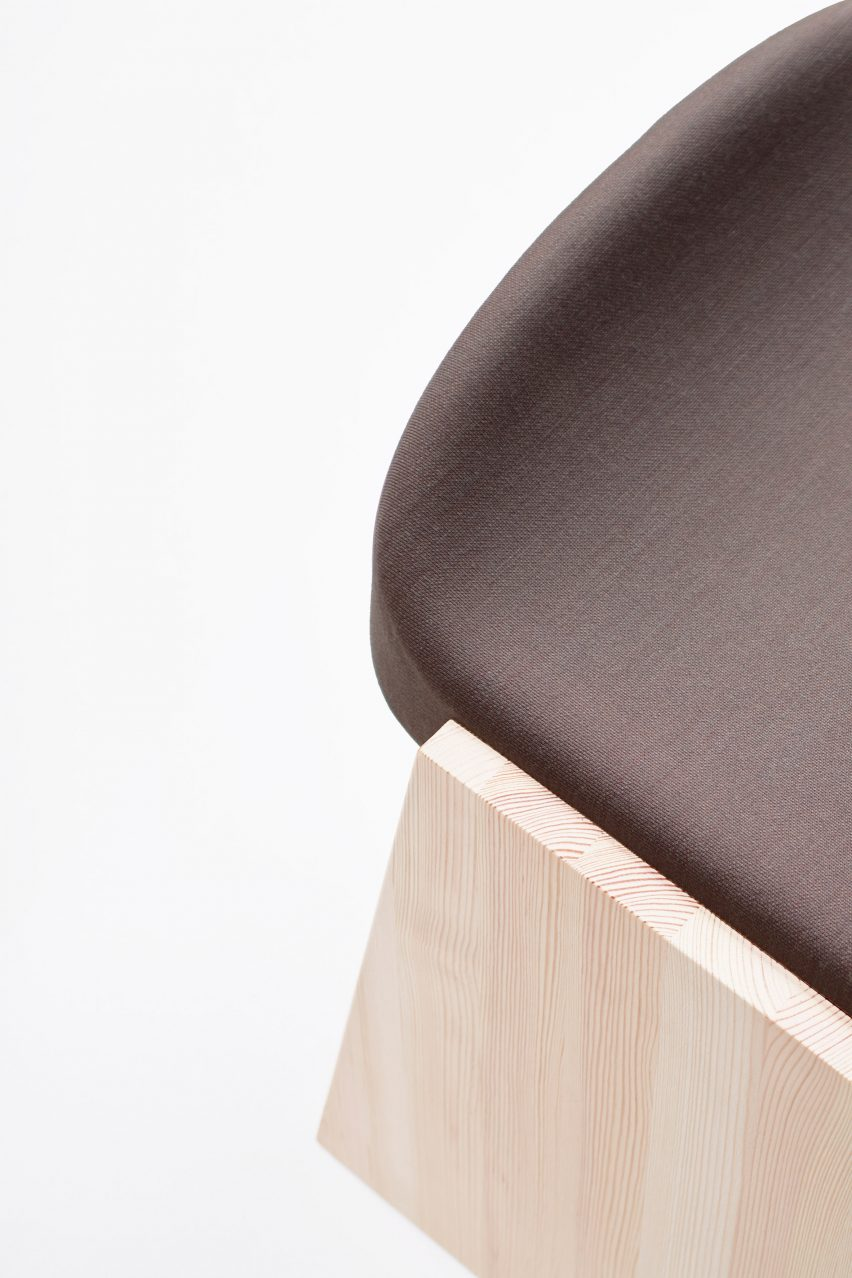 Upholstery of Soft Fronda stool by Industrial Facility for Mattiazzi