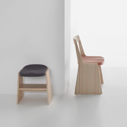 Soft Fronda stool and chair by Industrial Facility for Mattiazzi
