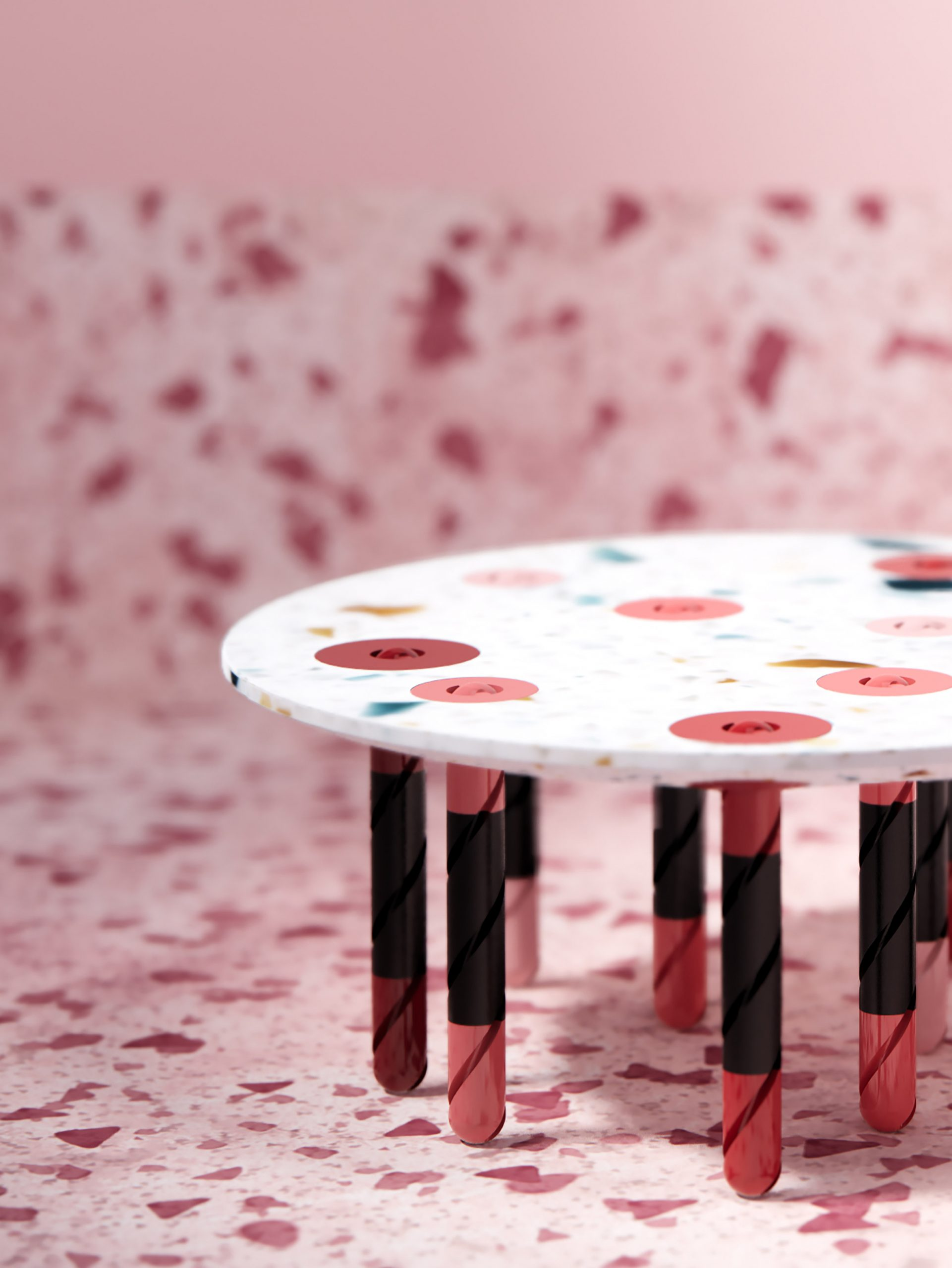 Heracles coffee table and dumbbell hybrid from Furfit collection by H-O-TT