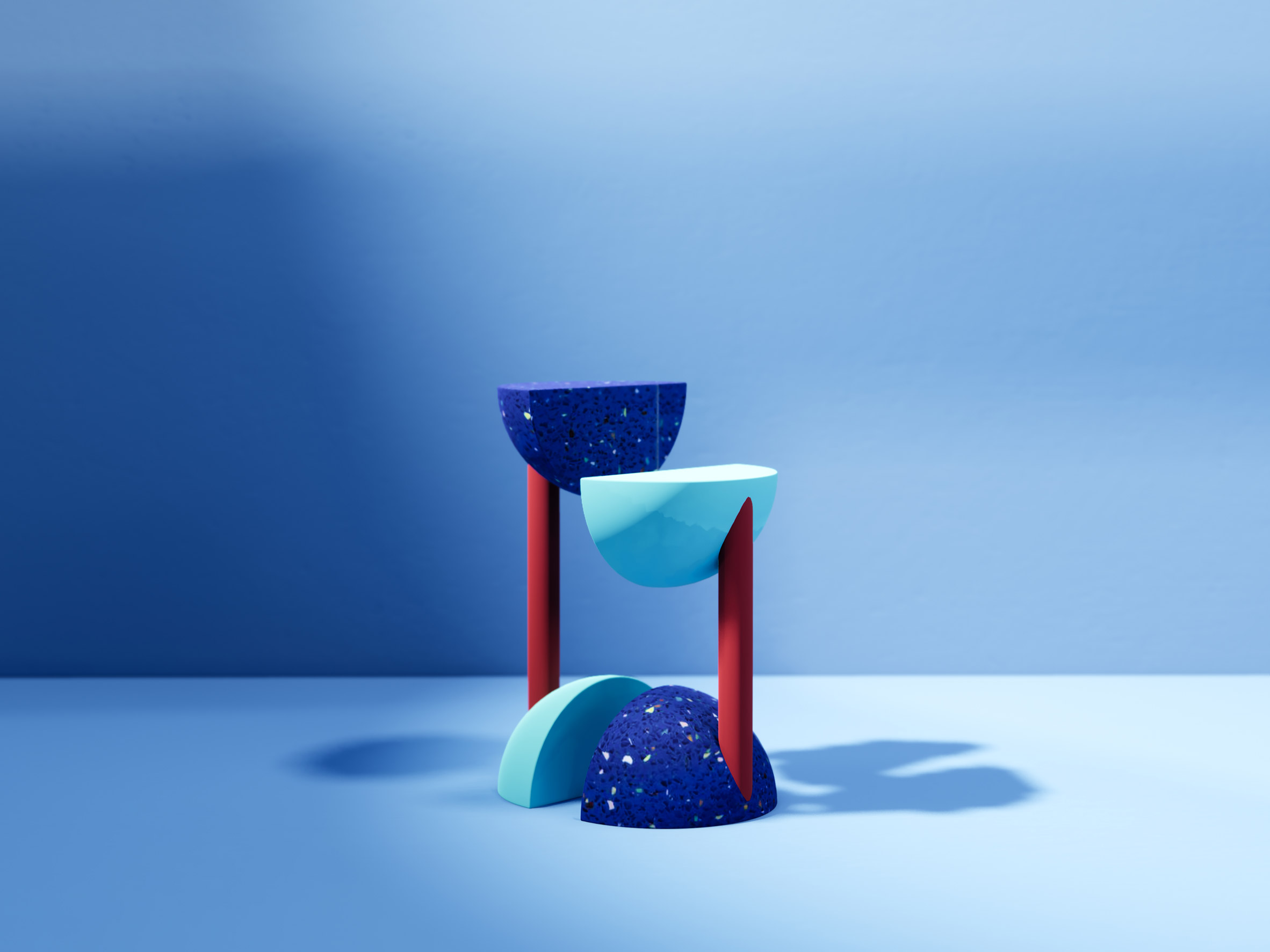 Paeonaeus stool and push-up bar hybrid from Furfit collection by H-O-TT