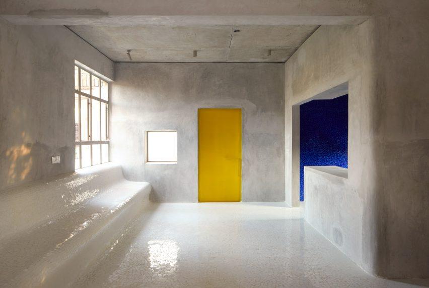 Community room designed by Abin Design Studio