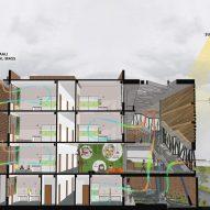 Plan of Girls Hostel Block by Zero Energy Design Lab