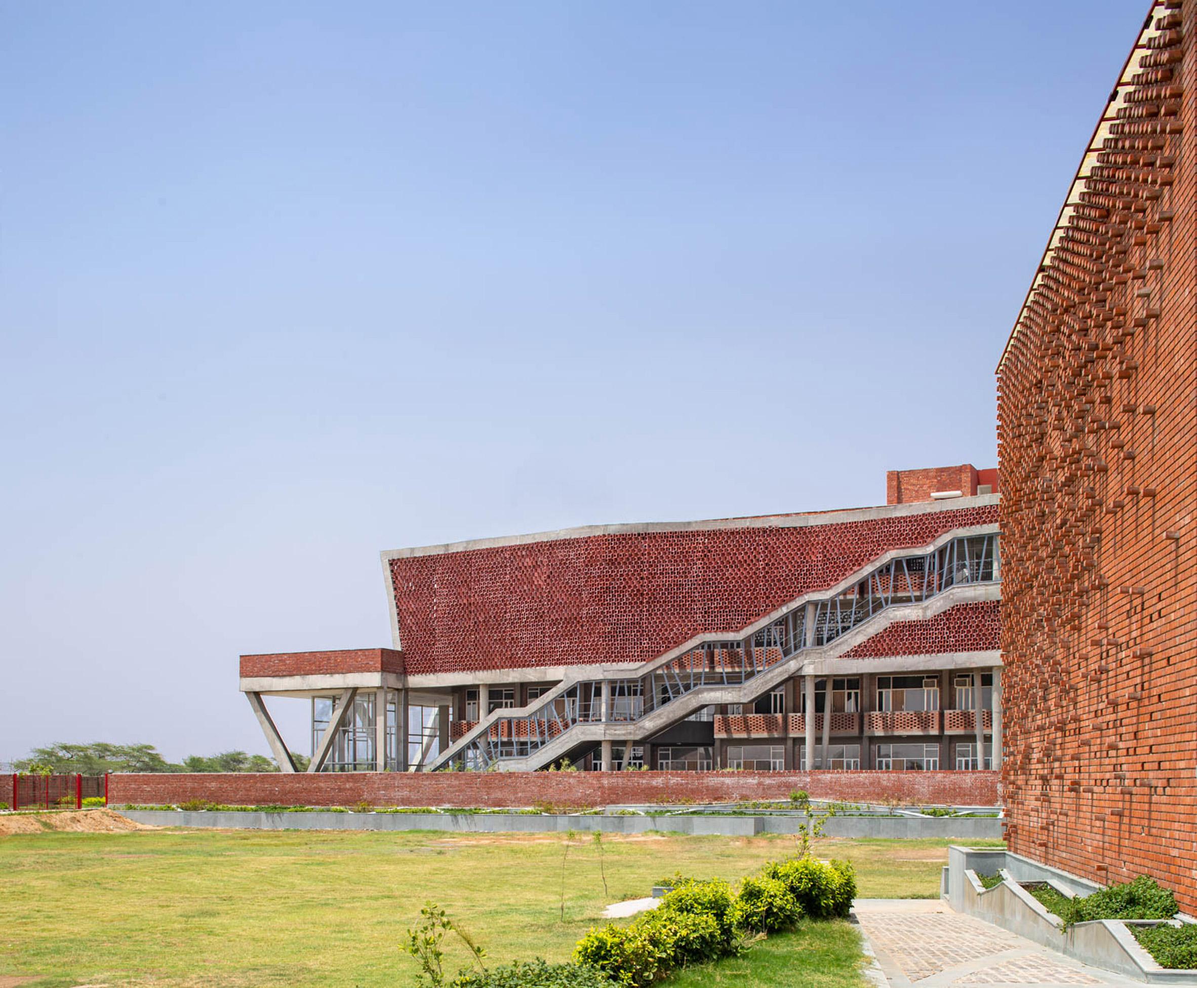 External view of Girls Hostel Block by Zero Energy Design Lab