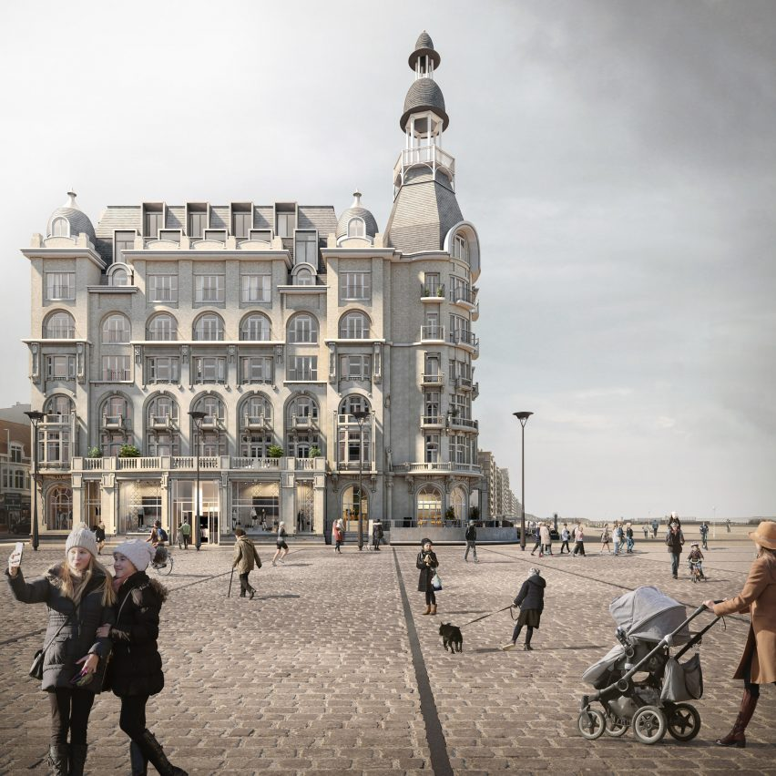 Grand Hotel apartments in Nieuwpoort by David Chipperfield Architects