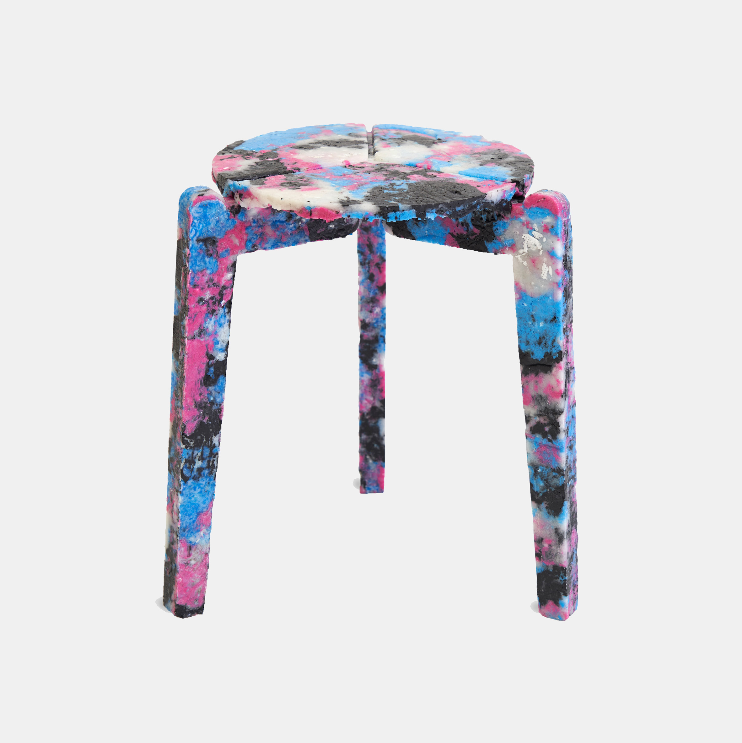Multicoloured Stack and Stack stool by Haneul Kim