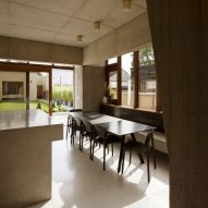 The dining room in the Hollybrook Road extension by TOB Architect