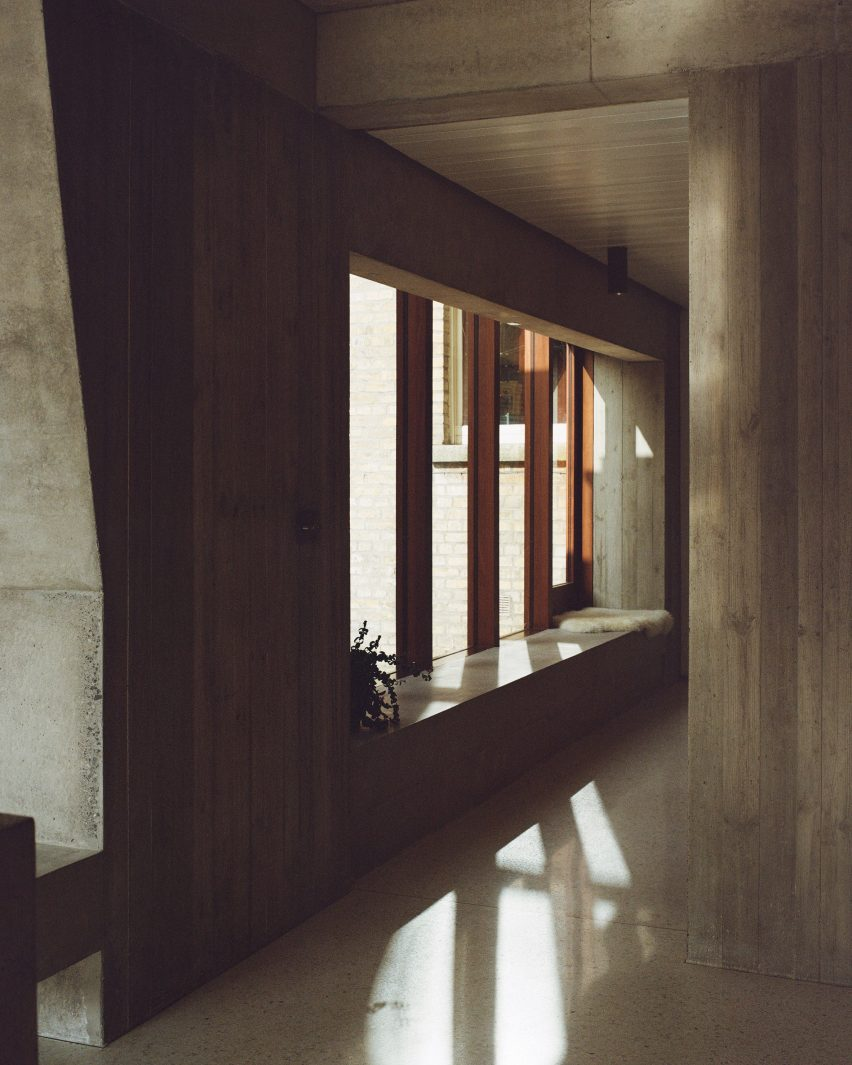 The corridor in the Hollybrook Road extension by TOB Architect