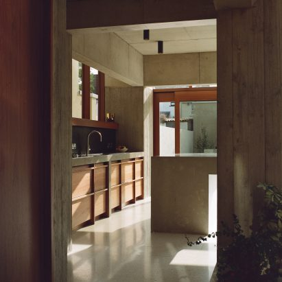 A view of the kitchen in the Hollybrook Road extension by TOB Architect