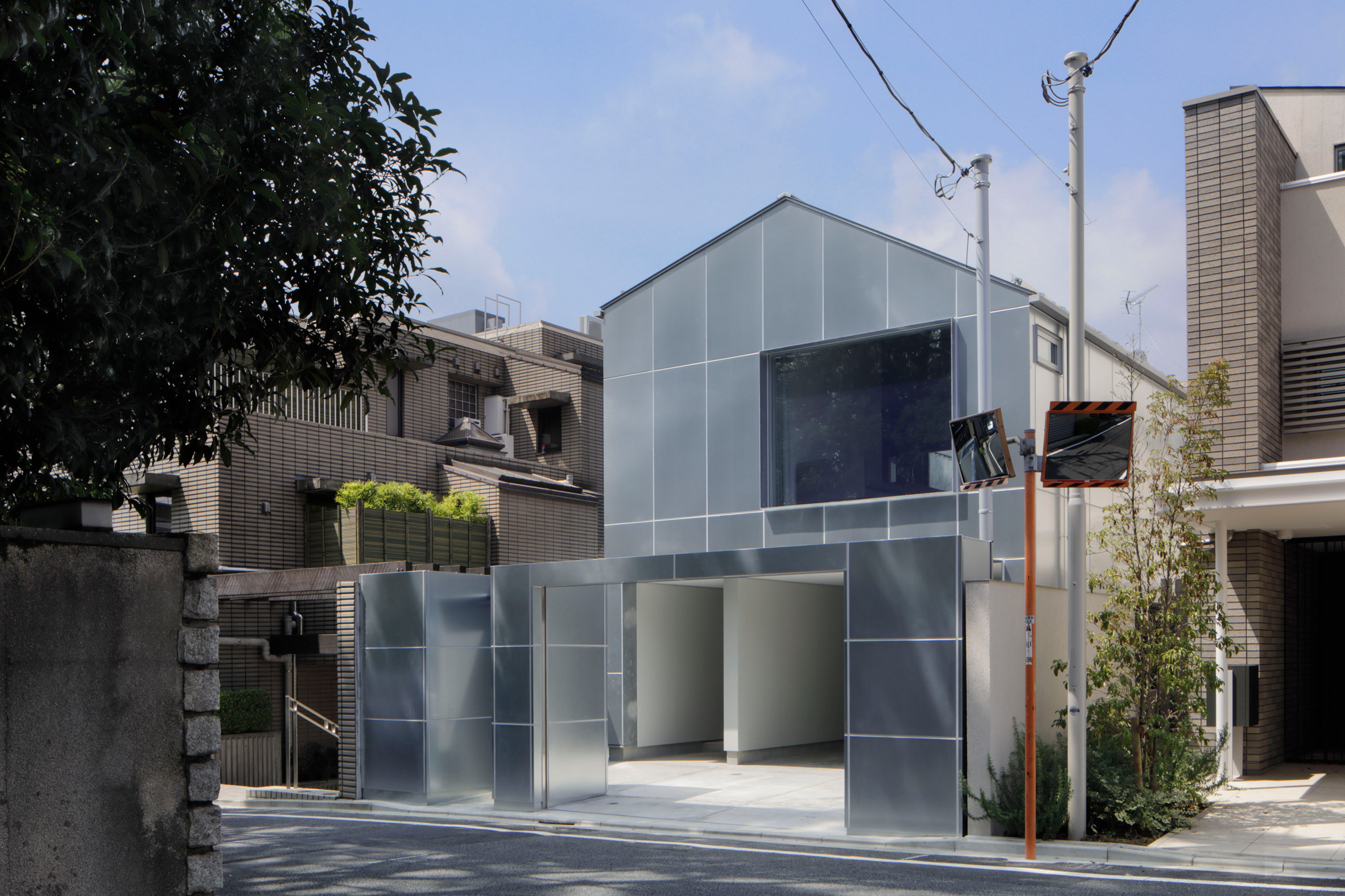 The steel-clad exterior