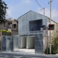 Case-Real clads House in Higashi-Gotanda in galvanised steel panels