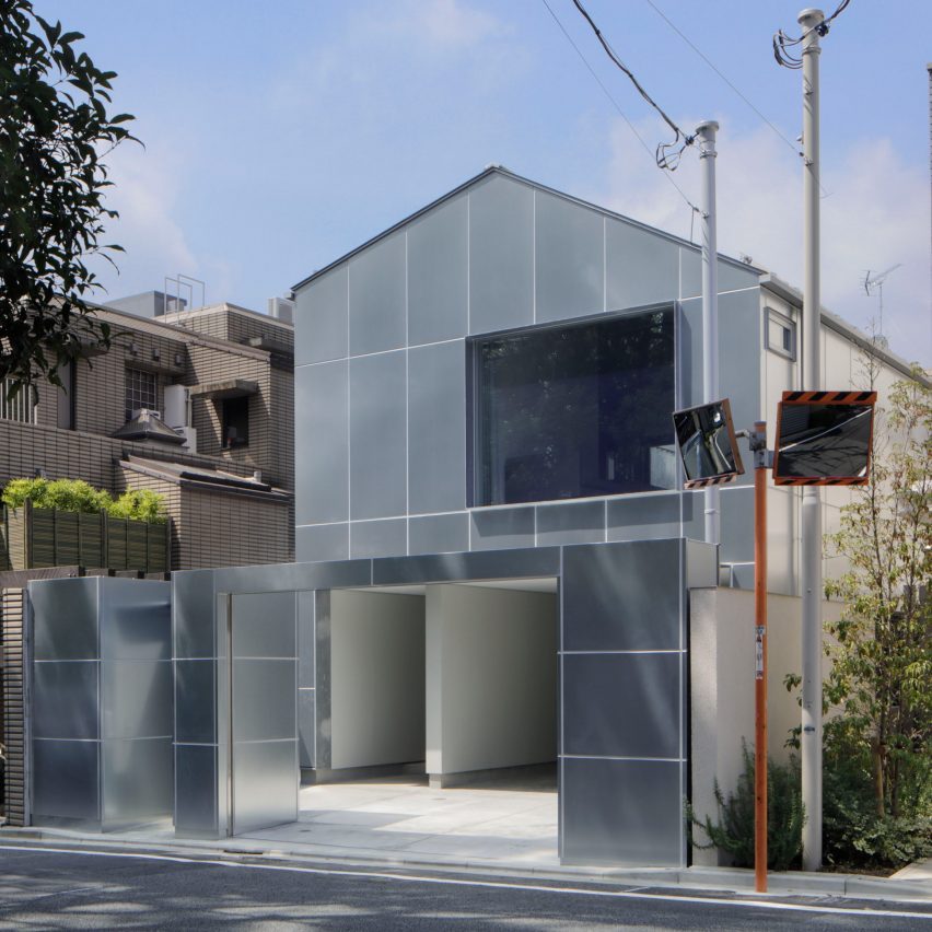 The steel-clad exterior of House in Higashi-Gotanda by Case-Real