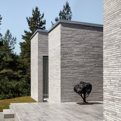 The brick exterior of the House of Many Courtyards by Claesson Koivisto Rune