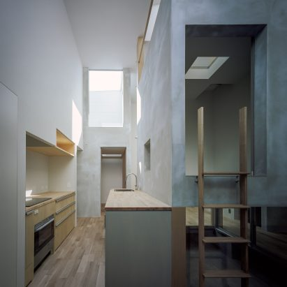 House with Light Void by FujiwaraMuro Architects