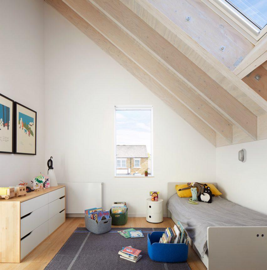 Contemporary children's bedroom in London