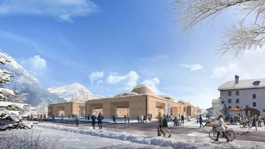 An innovation hub in the Swiss Alps, designed by Foster + Partners