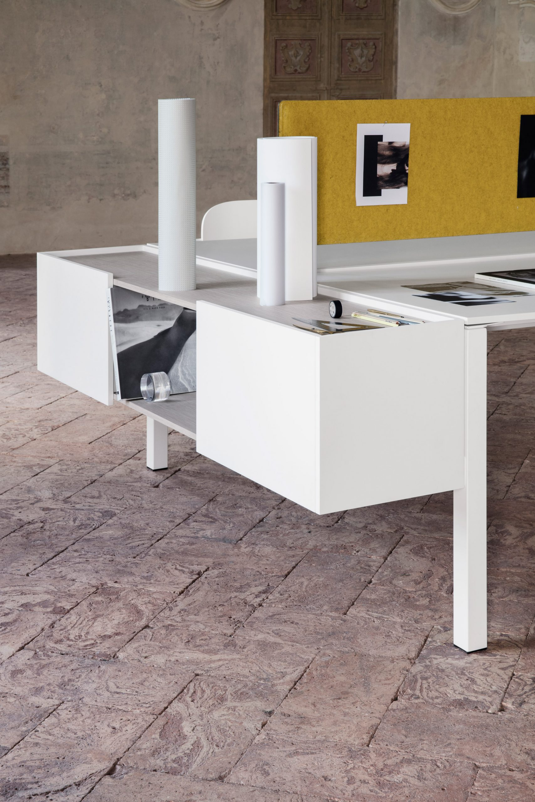 Close up of One, a desk by IOC Project Partners