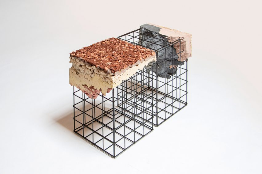Stool modules from Appropriating the Grid furniture collection