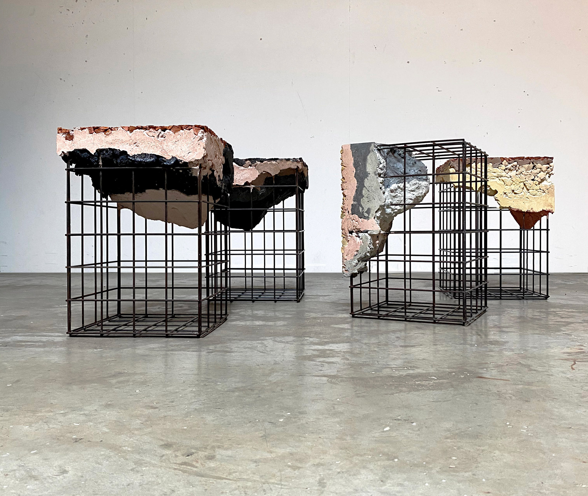 Stool modules from Appropriating the Grid furniture collection by Irene Roca Moracia