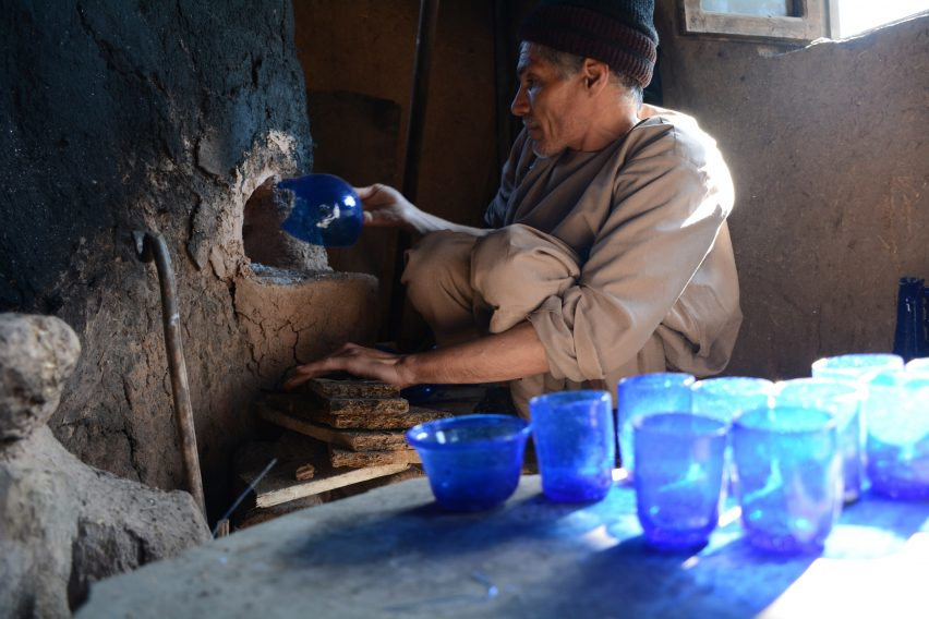 ISHKAR glassware by Ghulam Sekhi
